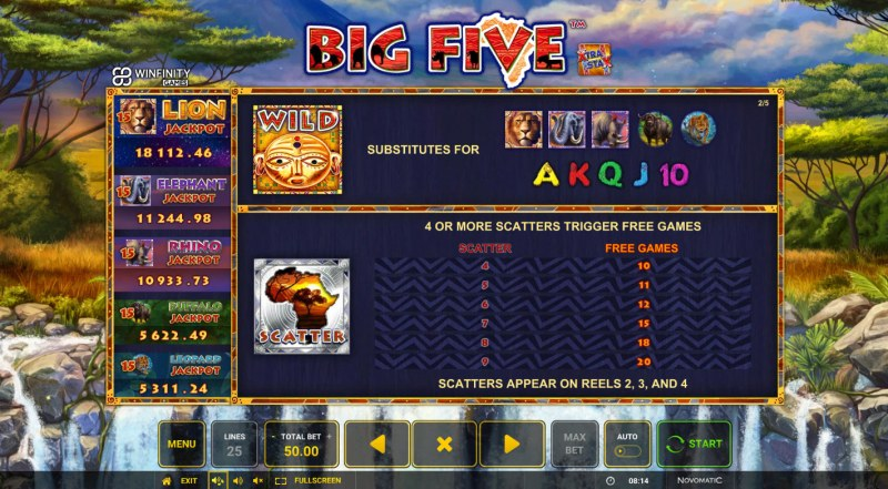 Big Five :: Wild and Scatter Rules
