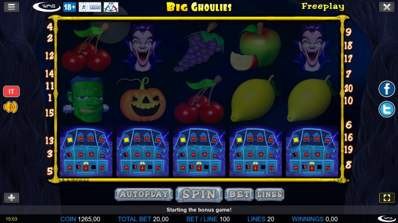 Big Ghoulies :: Scatter symbols triggers bonus feature