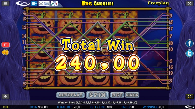 Big Ghoulies :: Multiple winning paylines