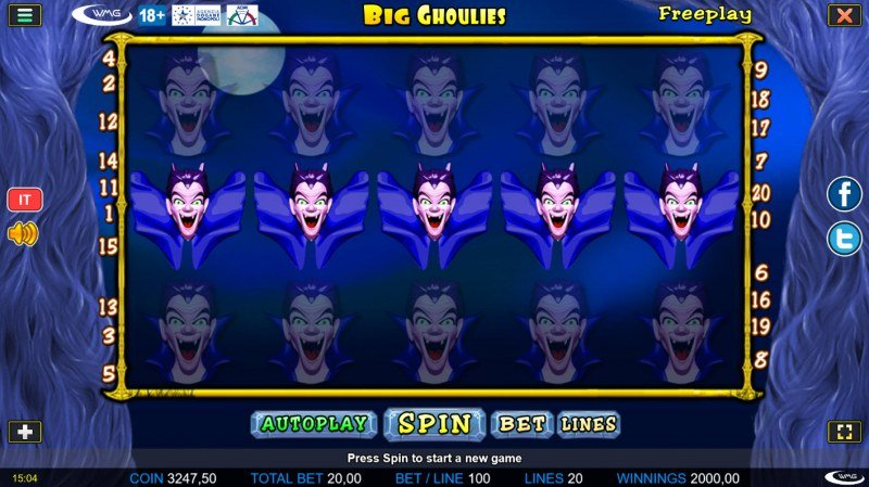 Big Ghoulies :: Multiple winning paylines leads to a super win