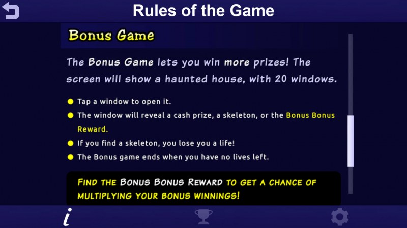 Big Ghoulies :: Bonus Game Rules