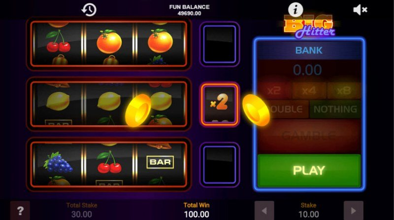 Big Hitter :: Random win multiplier doubles players payout