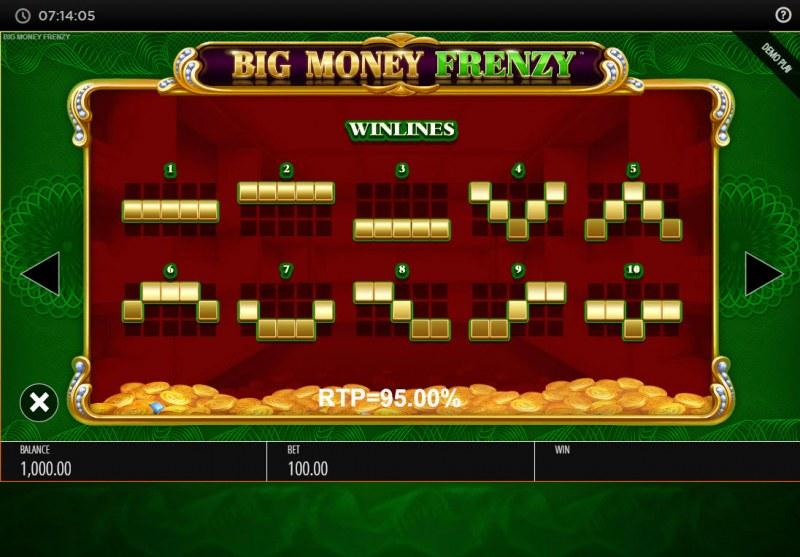 Big Money Frenzy :: Paylines 1-10