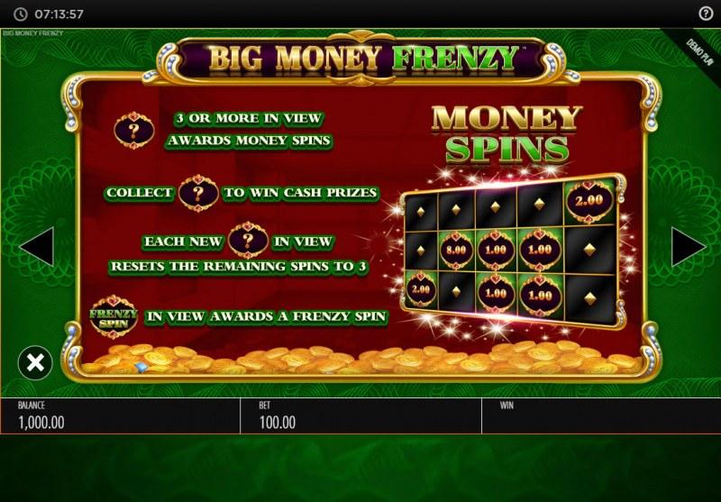 Big Money Frenzy :: Money Spins