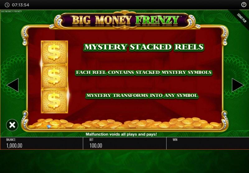 Big Money Frenzy :: Mystery Stacked Reels