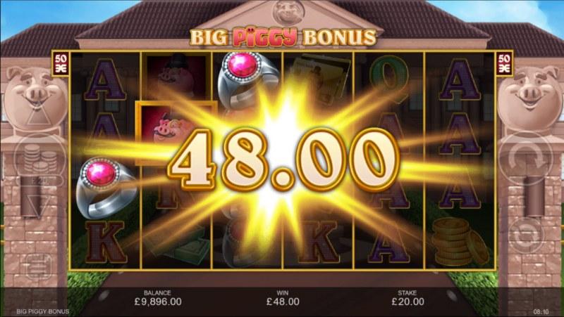 Big Piggy Bonus :: A three of a kind win