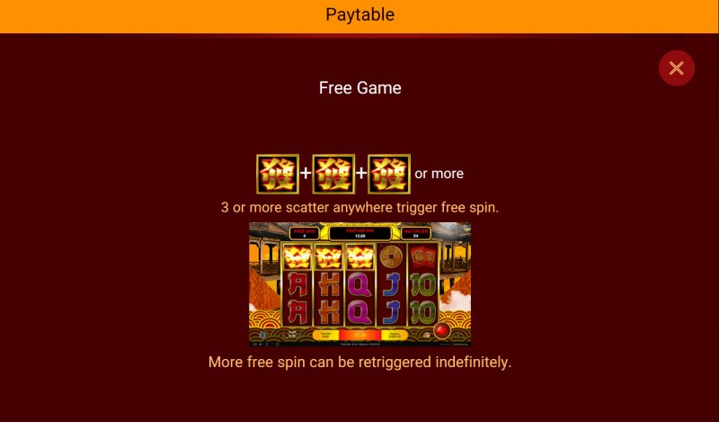 Big Prosperity Stand Alone :: Free Spins Rules