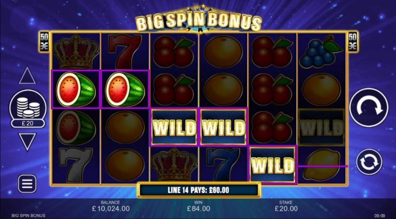 Big Spin Bonus :: A four of a kind win
