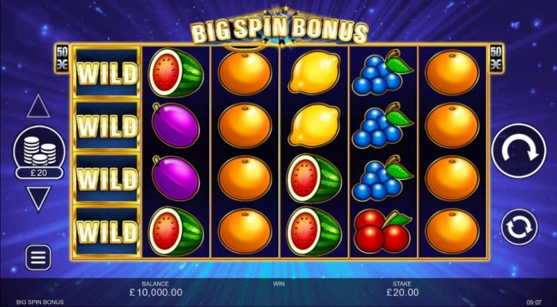 Big Spin Bonus :: Base Game Screen
