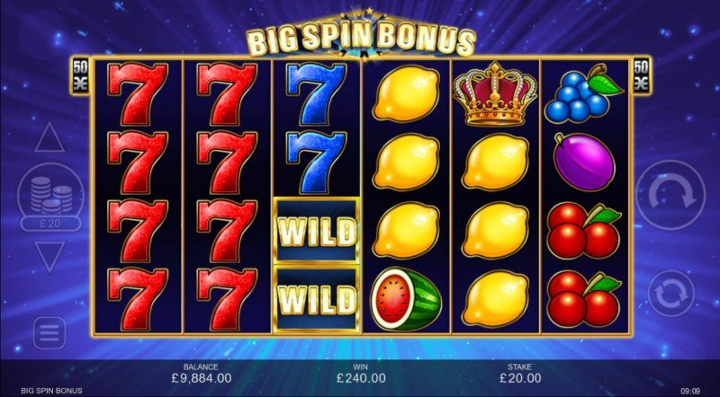 Big Spin Bonus :: Multiple winning combinations lead to a big win