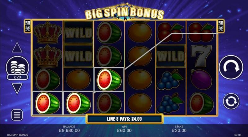 Big Spin Bonus :: A three of a kind win