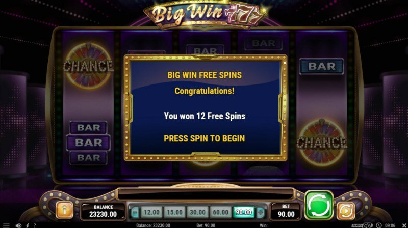 Big Win 777 :: 12 Free Games Awarded