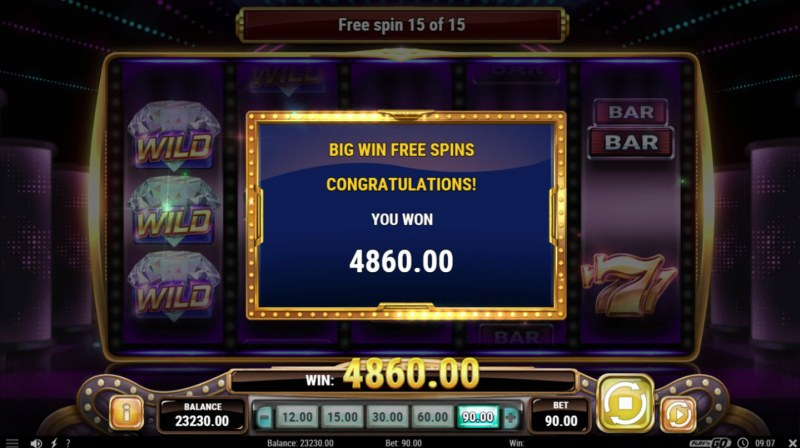 Big Win 777 :: Total free spins payout