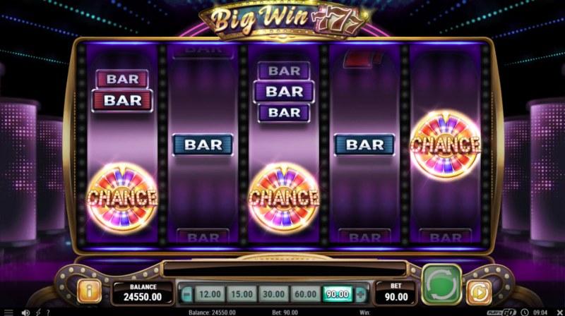 Big Win 777 :: Scatter symbols triggers bonus feature