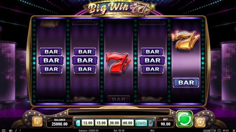 Big Win 777 :: Main Game Board
