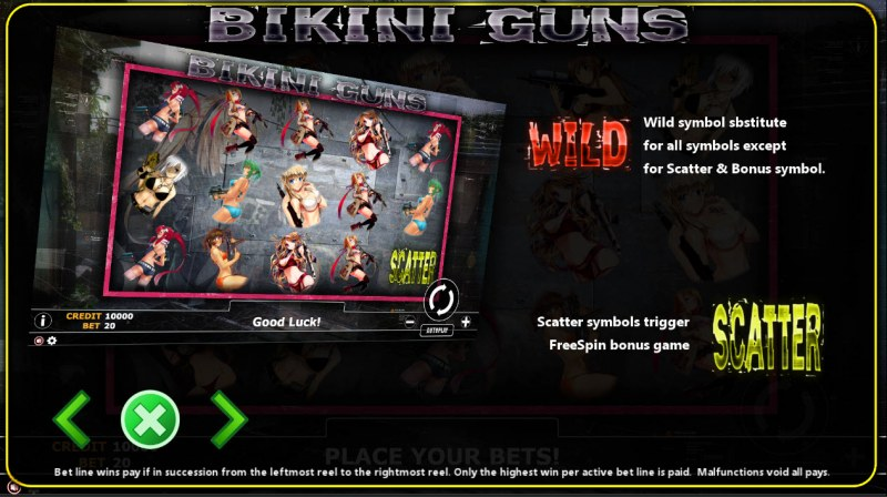 Bikini Guns :: Wild and Scatter Rules