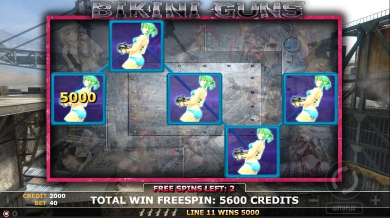 Bikini Guns :: Free Spins Game Board
