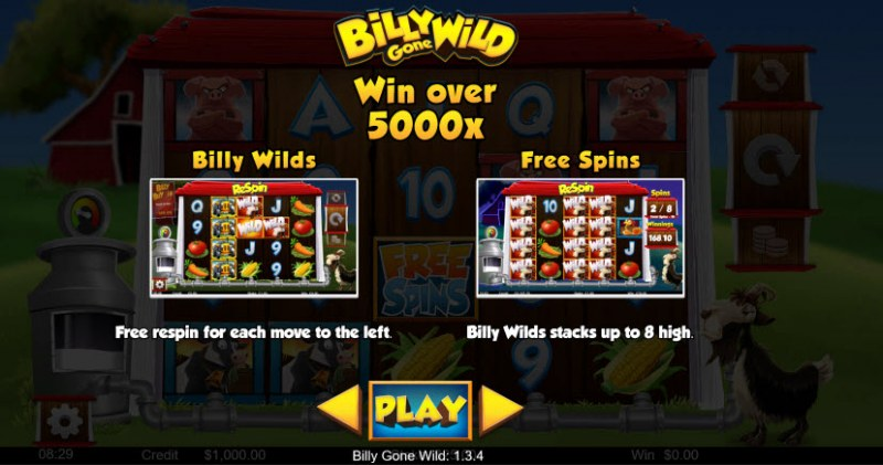 Billy Gone Wild :: Win Over 5,000x
