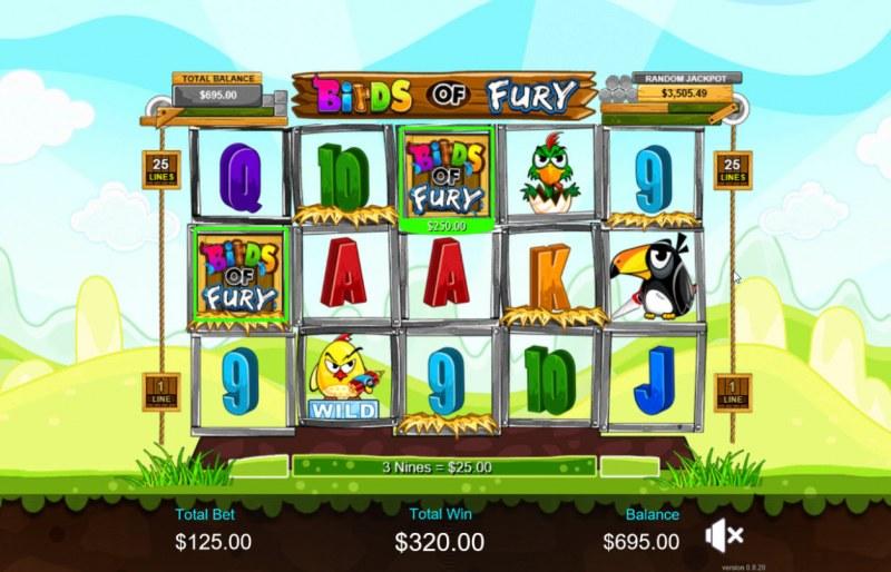 Birds of Fury :: Multiple winning paylines