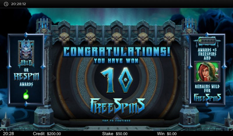 Bjorn the Frost Lord :: 10 Free Spins Awarded