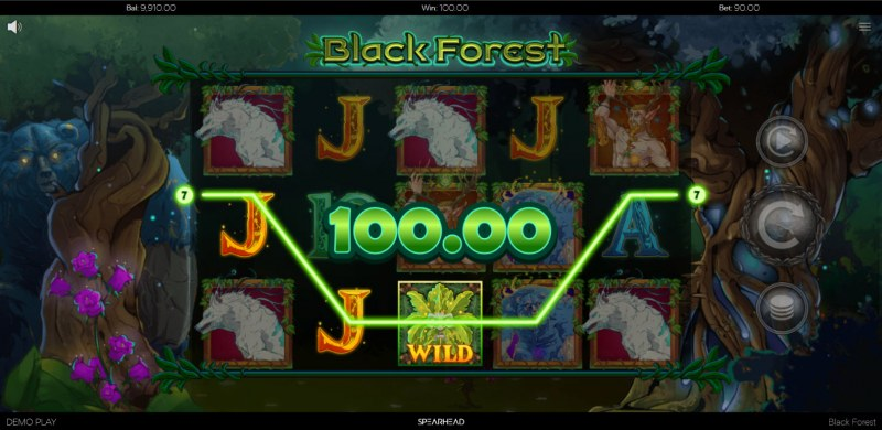 Black Forest :: A three of a kind win