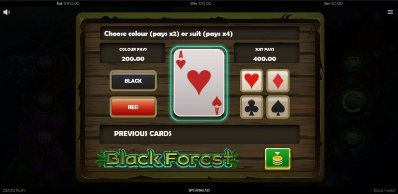 Black Forest :: Gamble feature