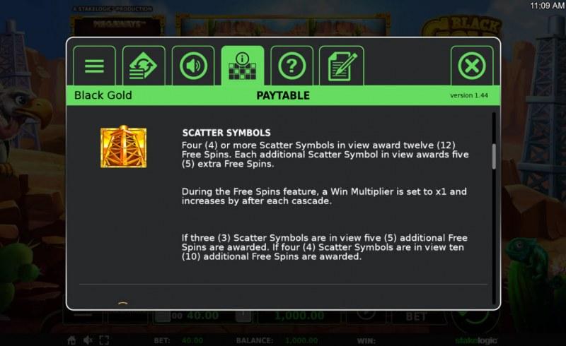 Black Gold Megaways :: Scatter Symbol Rules