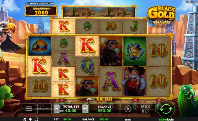 Black Gold Megaways :: A winning 3 of a kind