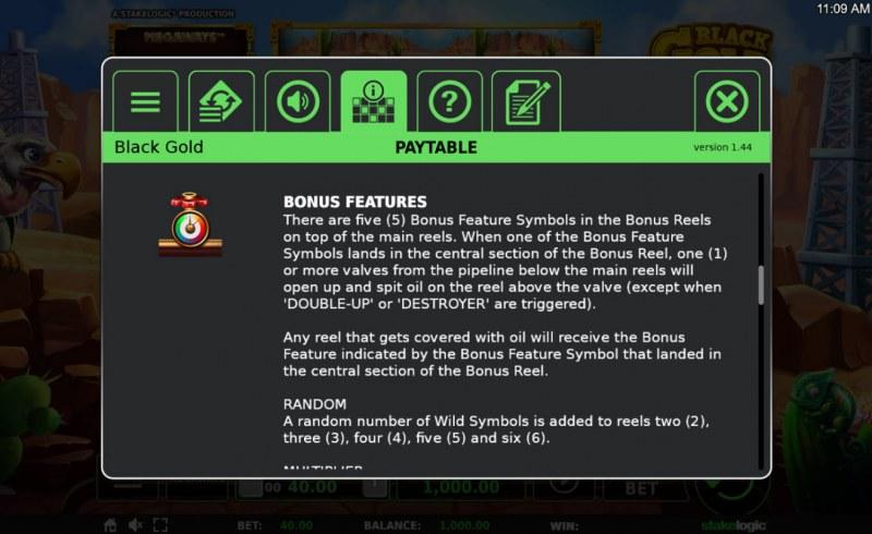 Black Gold Megaways :: Bonus Game Rules