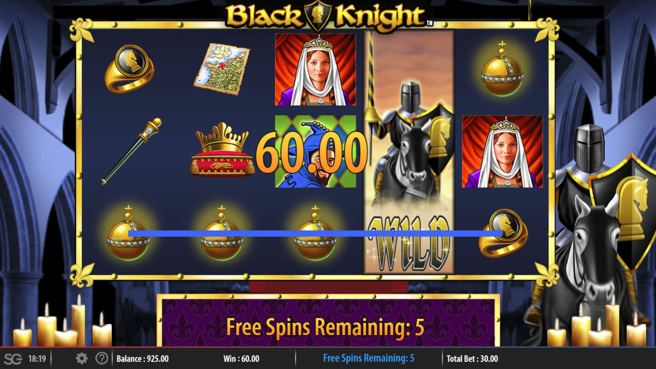 Black Knight :: Free Spins Game Board