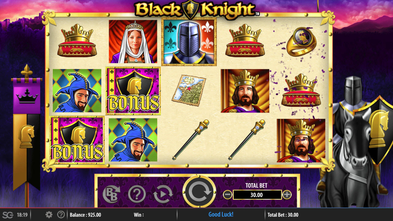 Black Knight :: Scatter symbols triggers the free spins feature