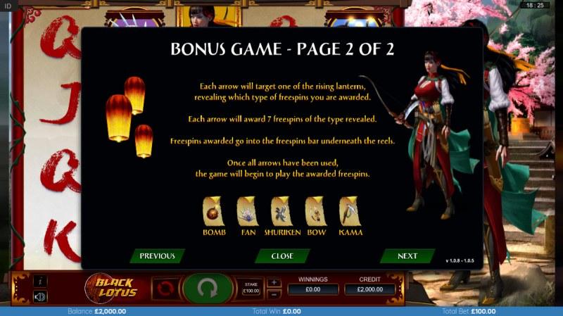 Black Lotus :: Bonus Game