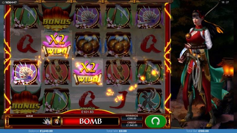Black Lotus :: Free Spins Game Board