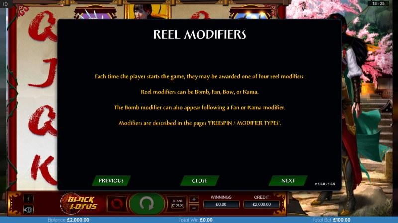 Black Lotus :: Reel Modifiers