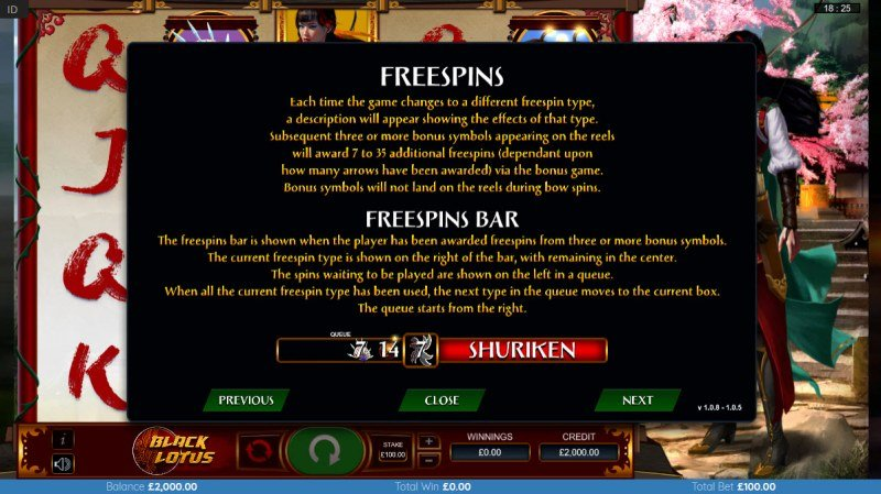 Black Lotus :: Free Spin Feature Rules
