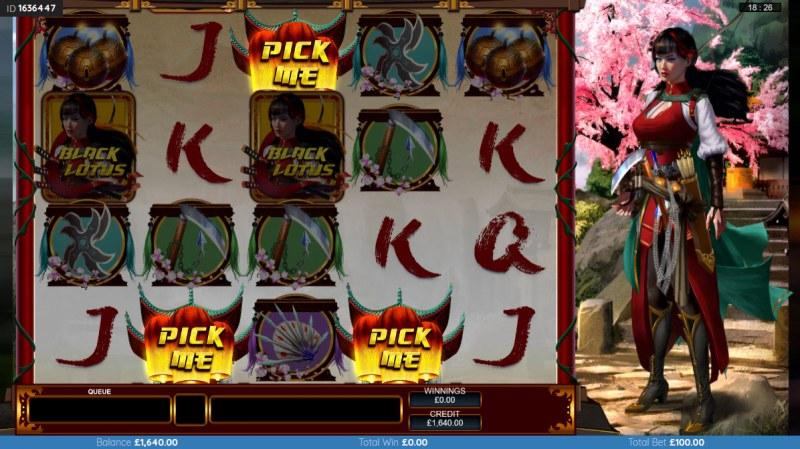 Black Lotus :: Scatter symbols triggers the bonus feature