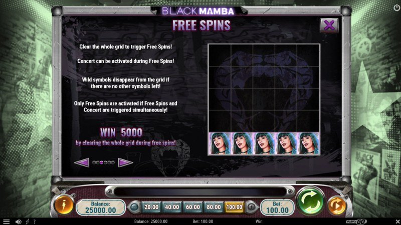 Black Mamba :: Free Spins Rules
