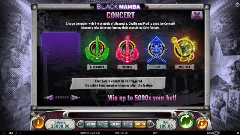 Black Mamba :: Concert Feature Rules