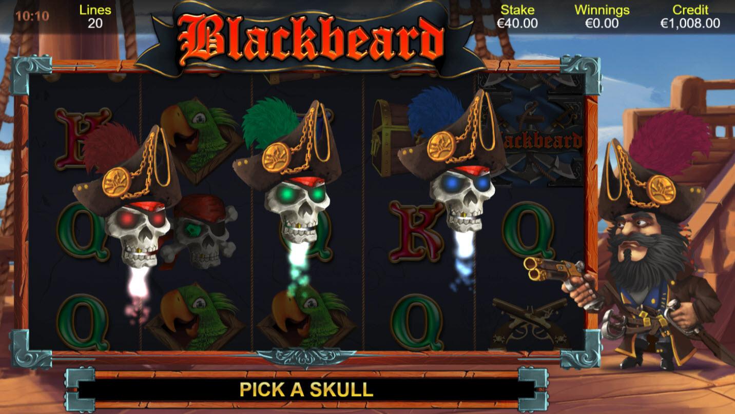 Blackbeard :: Flying Skulls feature activated