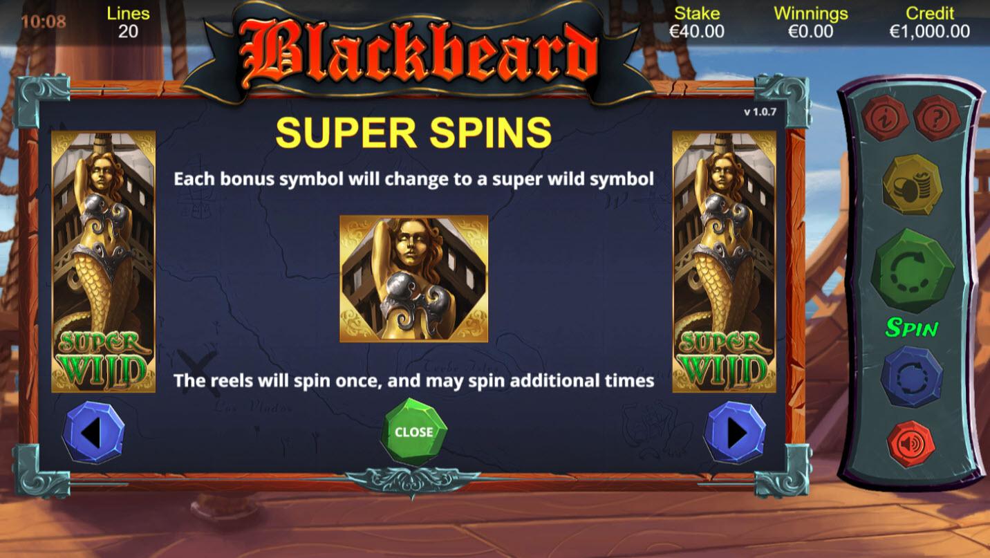 Blackbeard :: Super Spins