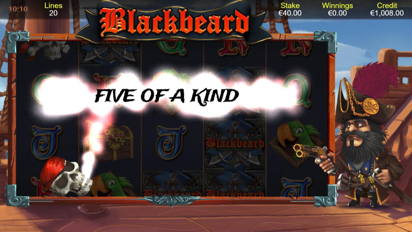 Blackbeard :: Feature triggers a five of a kind