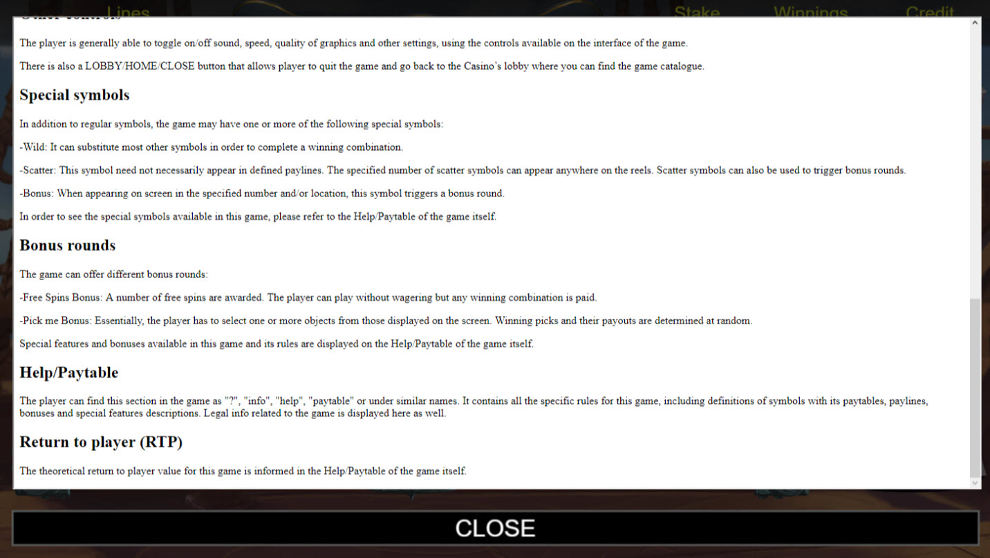 Blackbeard :: General Game Rules