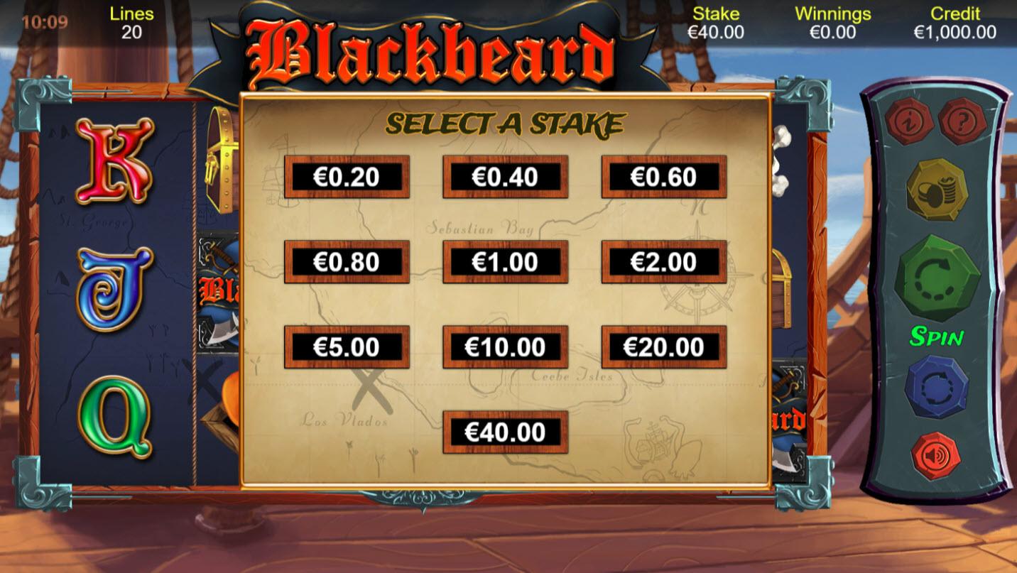Blackbeard :: Available Betting Options