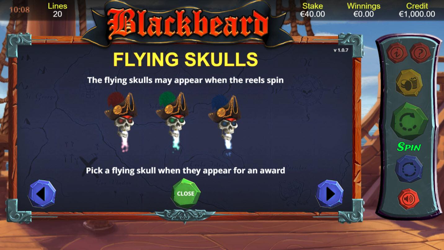Blackbeard :: Flying Skulls