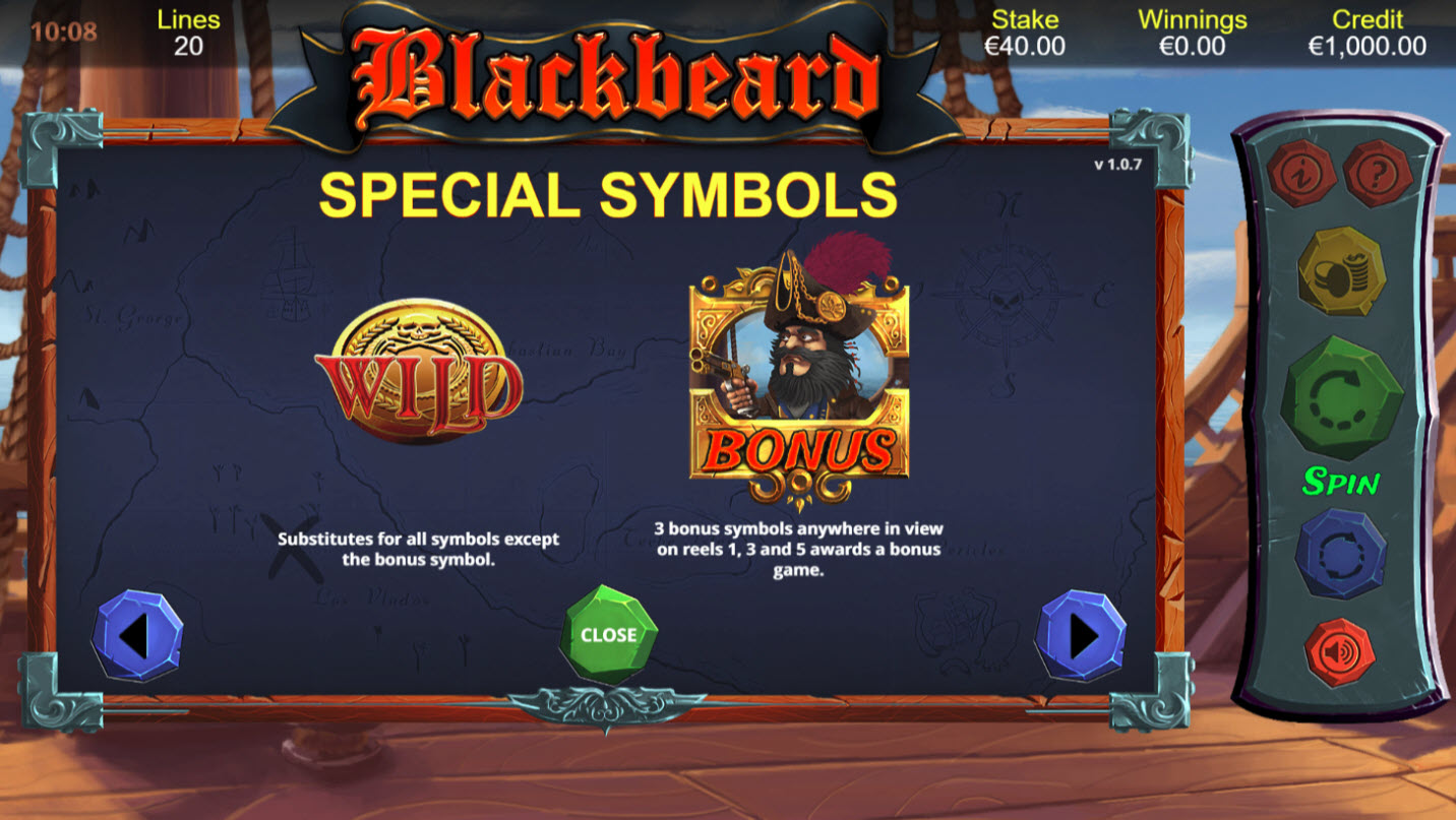 Blackbeard :: Wild and Scatter Rules
