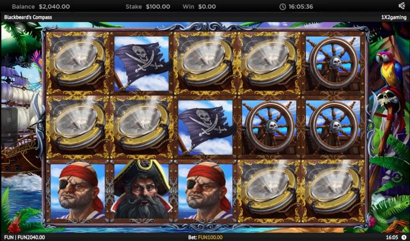 Blackbeard's Compass :: Landing mystery symbols on the reels change into randomly selected symbol
