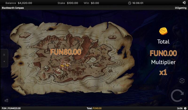 Blackbeard's Compass :: Bonus Game Board