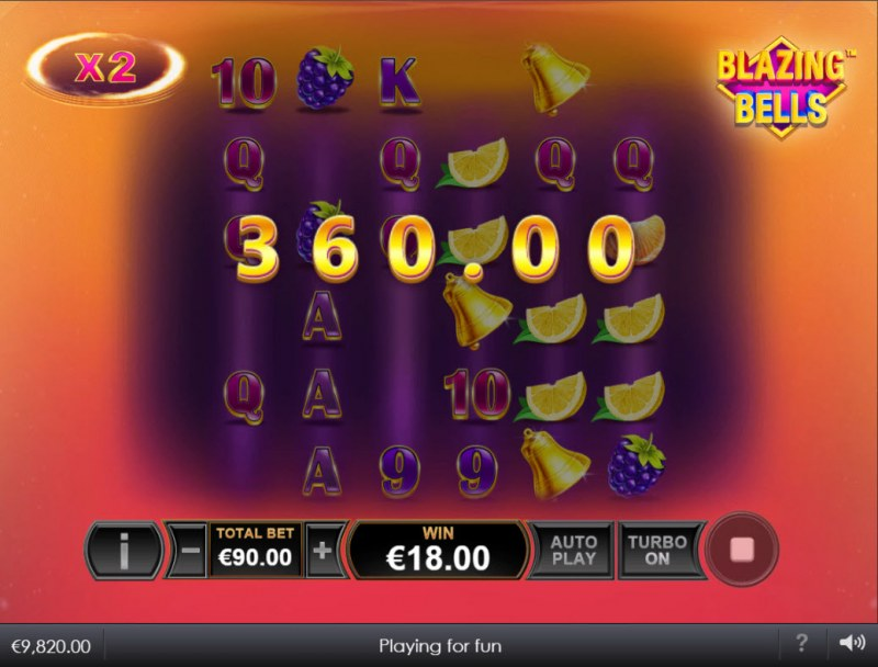 Blazing Bells :: X2 multiplier doubles the payout
