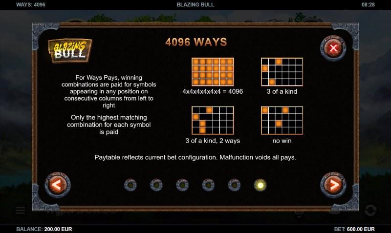 Blazing Bull :: 4096 Ways to Win