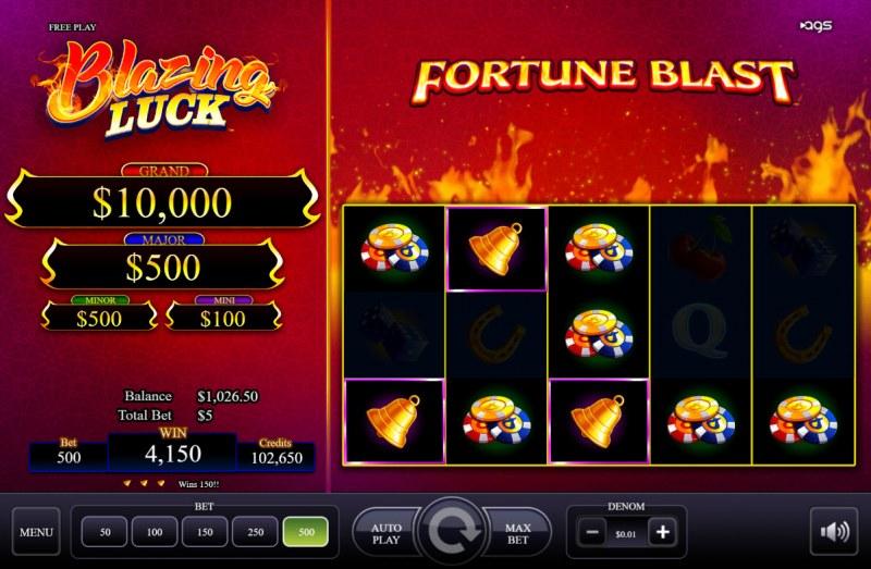 Blazing Luck :: Multiple winning combinations